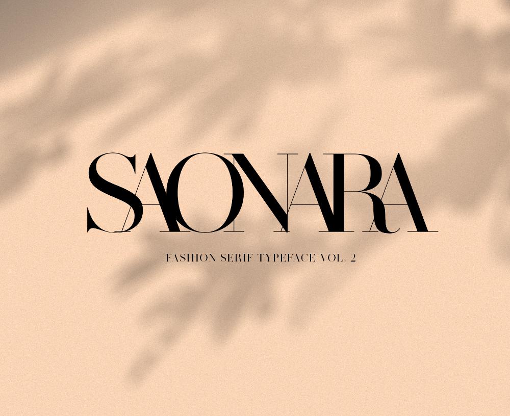 MADE SAONARA Font on Behance in 2020 Saonara, Typeface
