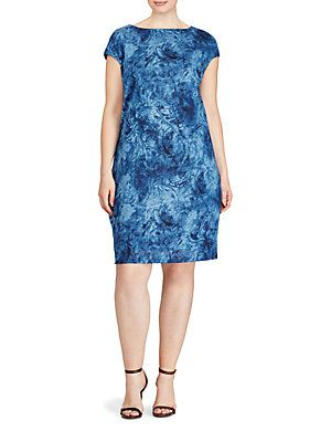 Lauren Ralph Lauren Vintozy Linen Shift Dress | Plus size ...