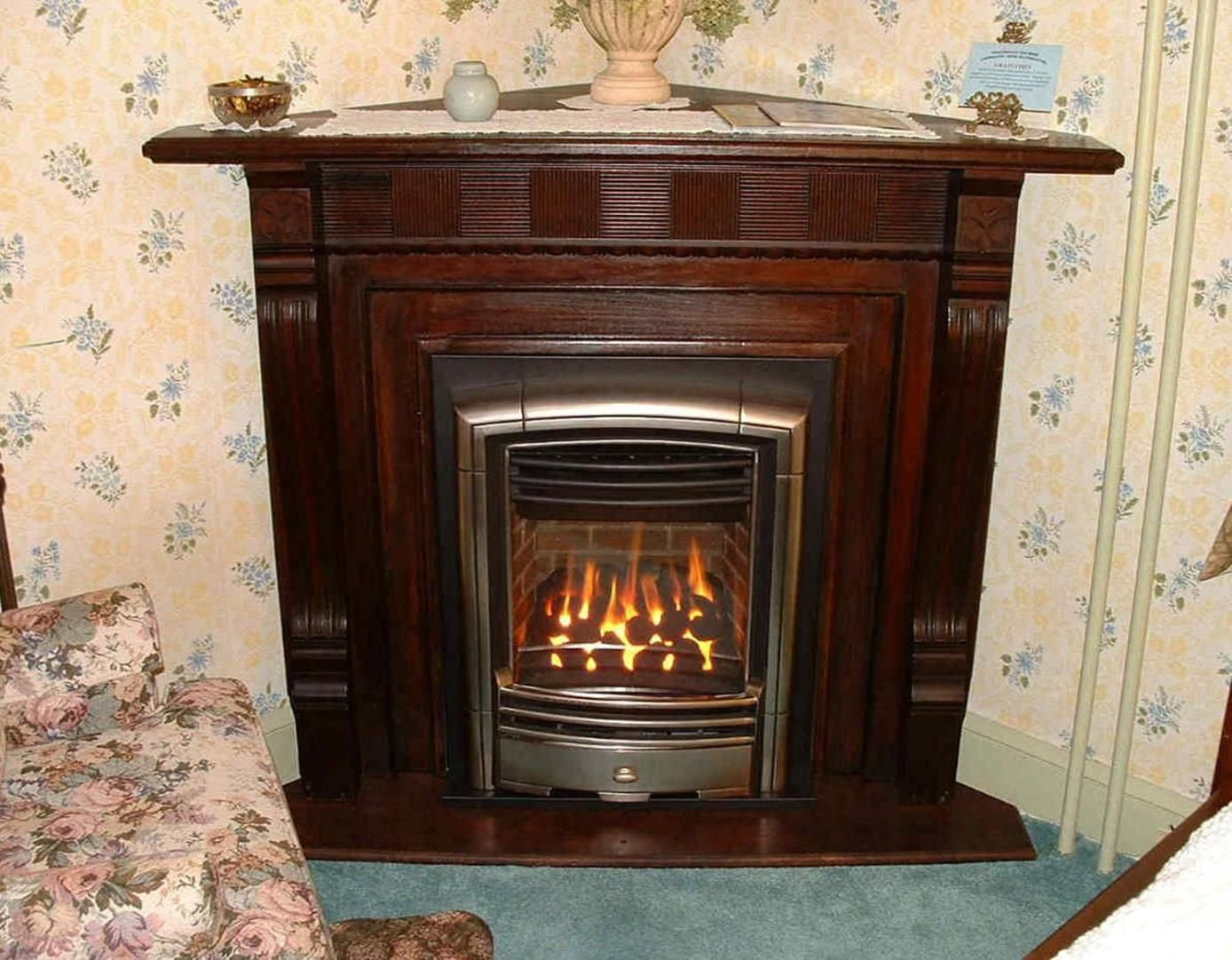 58 rustic natural gas fireplace insert with blower design