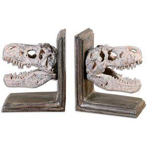 Uttermost Dinosaur Bookends - Set of 2