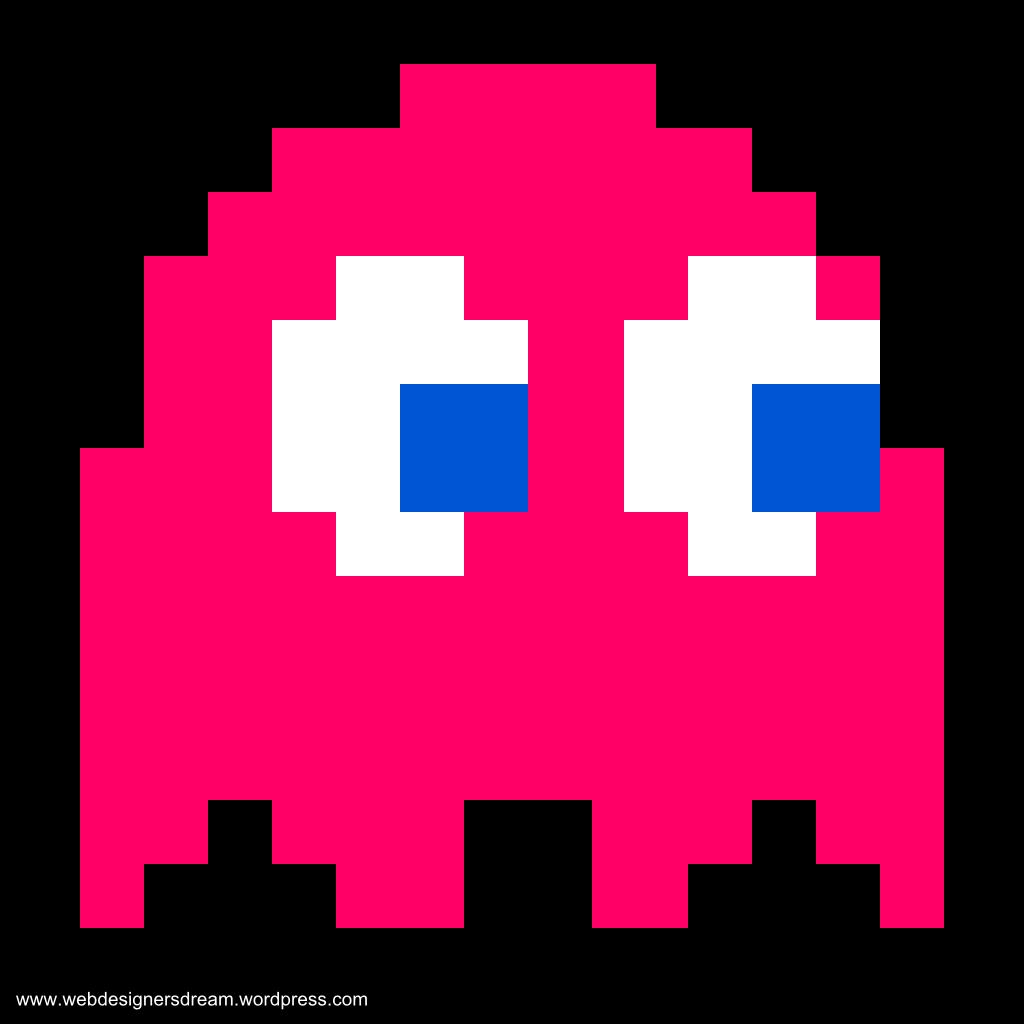 Pacman Ghost Colour Pixel Art Games Pacman Ghost Pixel Art