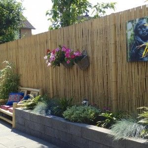 Marvelous Deck And Patio Designs With Bamboo | ... Bamboo Roll Fence