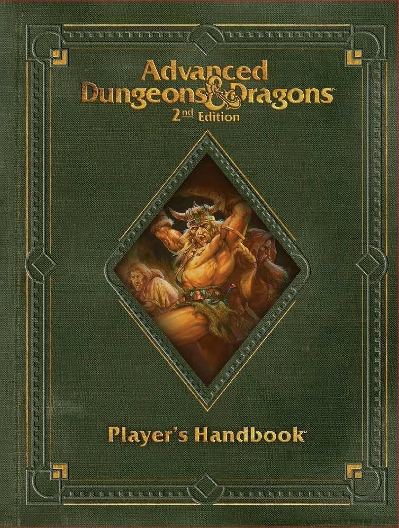 Player S Handbook Revised 2e Wizards Of The Coast Ad D 2nd