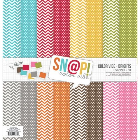 Color Vibe Brights 12x12 Paper Pack Simple Stories Polka Dots Chevron Rainbow Neutrals Colors Pink Red Orange Yellow Green Teal Grey Brown by InkyHotMess on Etsy