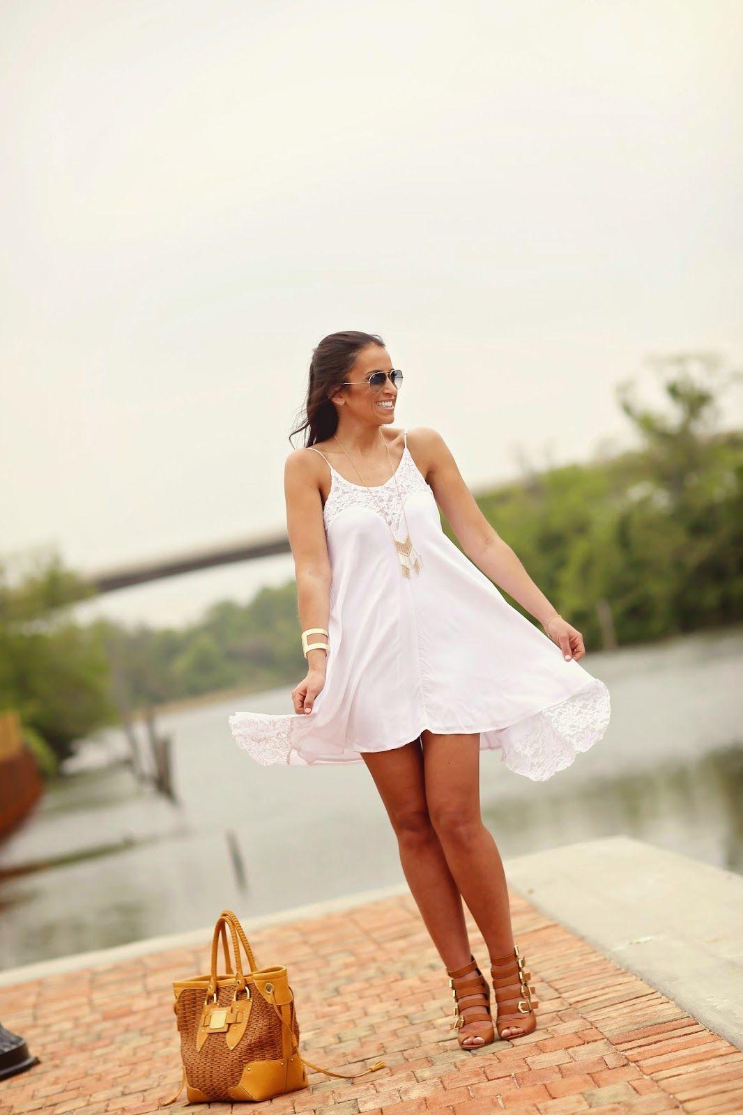 8284d0e616d Forever 21 strappy sandal bootie // car shoe bag // Charlotte Russe white  flowing summer dress