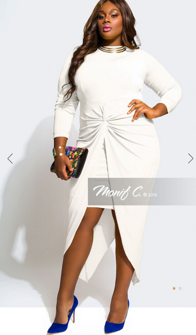 61a7fcd1296 This Monif C dress is everything! Who says plus size clothes can t be sexy  and fabulous  We definitely approve this for your wedding rehearsal dinner!