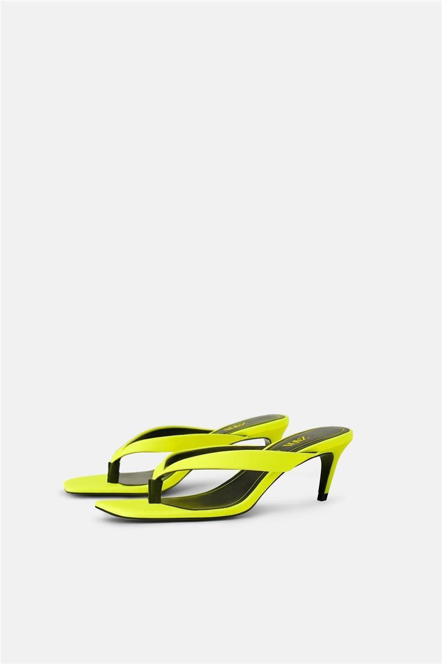2bb23b63 Sandalias amarillo flúor de Zara in 2019 | Zapatos de moda: todas ...
