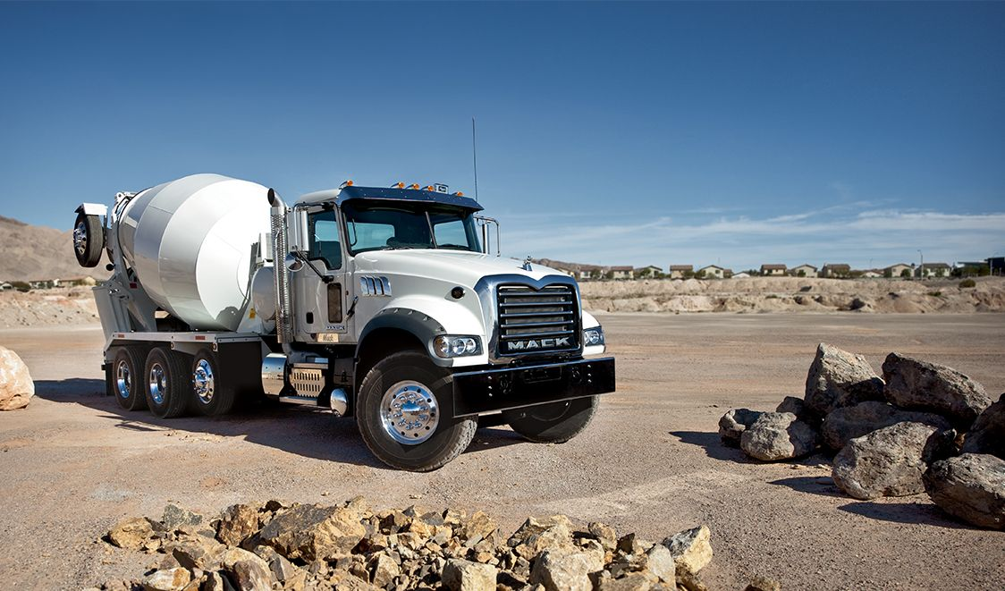 Mack Truck Cement Mixer : Mack granite cement mixer heavyhauling