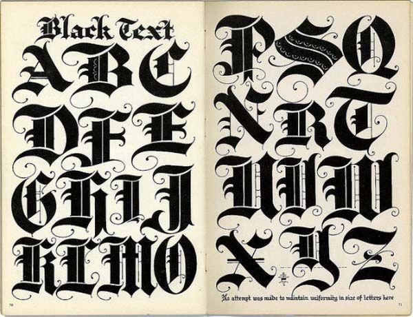 Graffiti Alphabet Letters Black Text