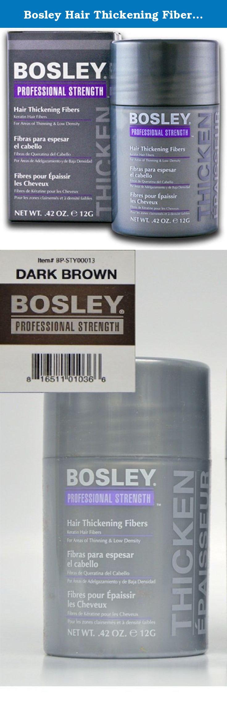 Bosley Hair Thickening Fibers Keratin Hair Fibers .42 oz