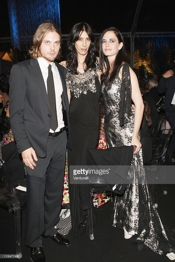 Actor Michael Pitt, Jamie Bochert and actress Eva Green attends the dinner for amfAR's second annual Cinema Against AIDS Rome at the Galleria Borghese on October 24, 2008 in Rome, Italy.
