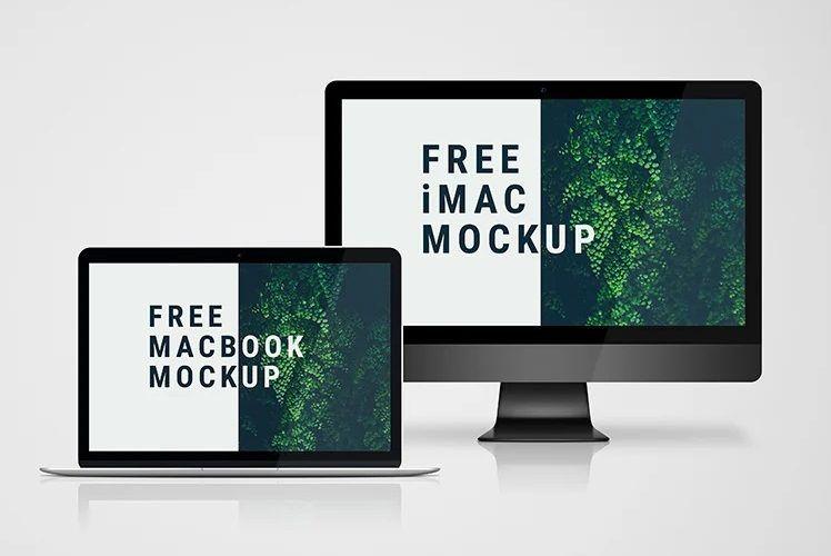 30 Free Macbook Mockups Premium Version Macbook Mockup Imac Mockup Free Imac