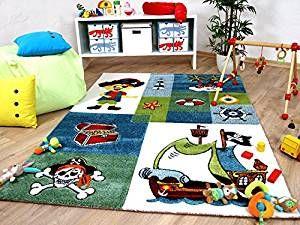 Piratenzimmer kinderzimmer Teppich für kleine Piraten