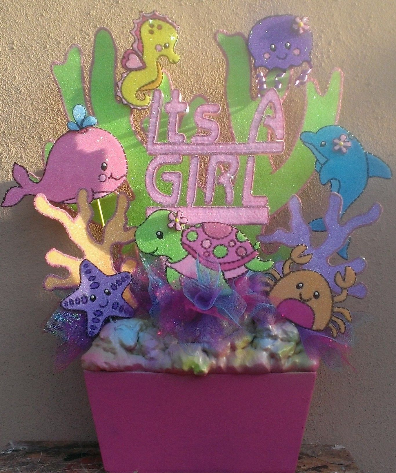 Under the sea baby shower theme main centerpiece