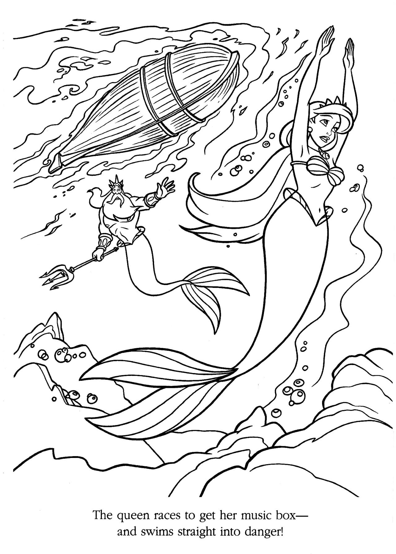 Coloriage La Petite Sirene Coloriage La Petite Sirene Coloriage