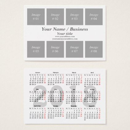 Create Your Own 2018 Calendar Business Card - Create Your Own