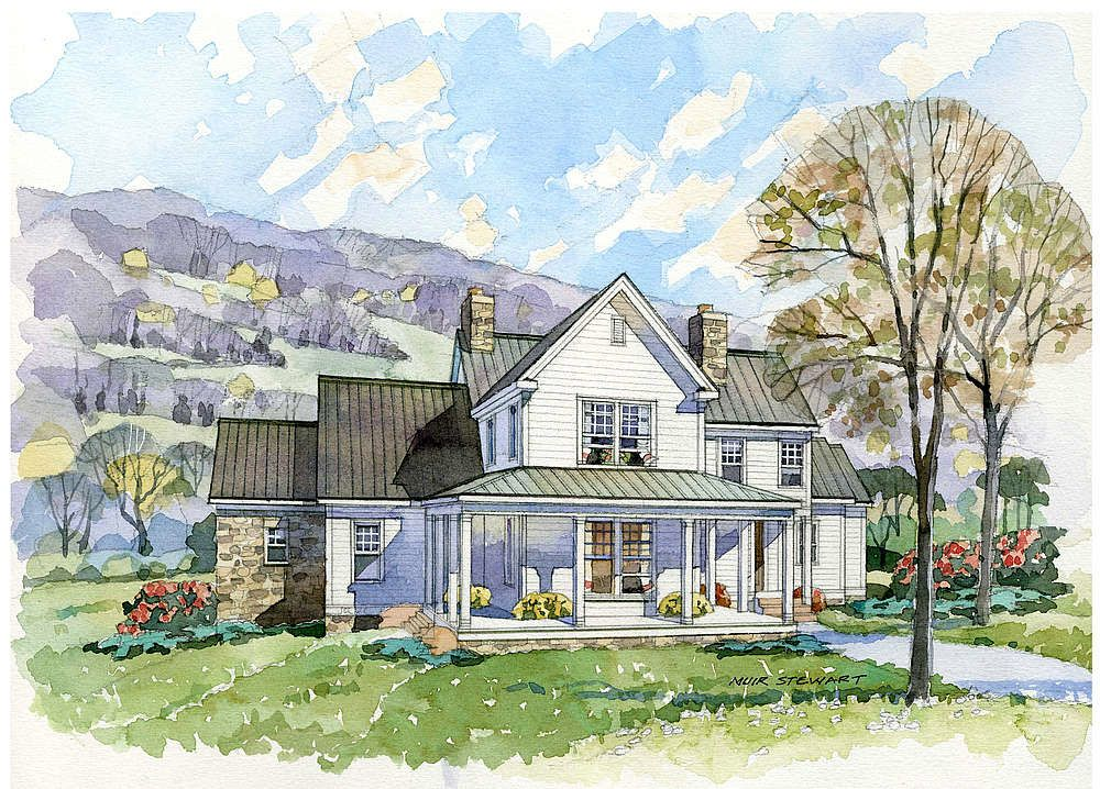 Cottage Farmhouse Decor The Homesteader Farmhouse A Southern Living Exclusive By New South House Plans Farmhouse Southern House Plans Southern Farmhouse