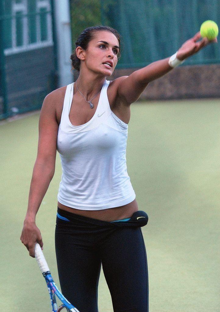 Sexy Tennismädchen