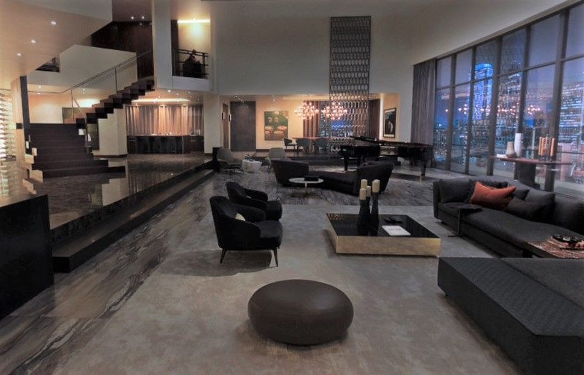 The Minotti Aston Arm Chair And The Minotti Elliot Coffee Table As