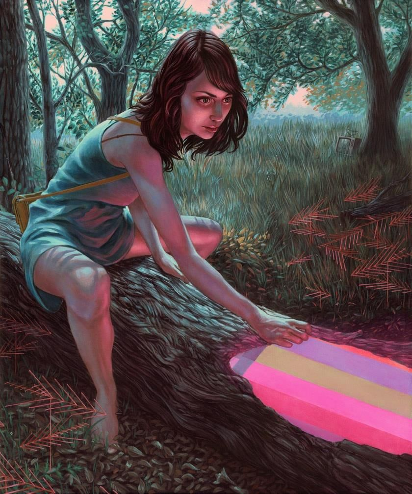 """Coming up next at the Roq La Rue- Casey Weldon and Femke Hiemstra...Here's a new painting by Casey Weldon titled """"Lost Signal""""!"""