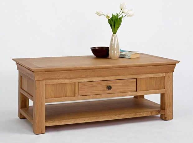Oxford Oak Coffee Table With Drawer Http Www Solidoakfurniture Co