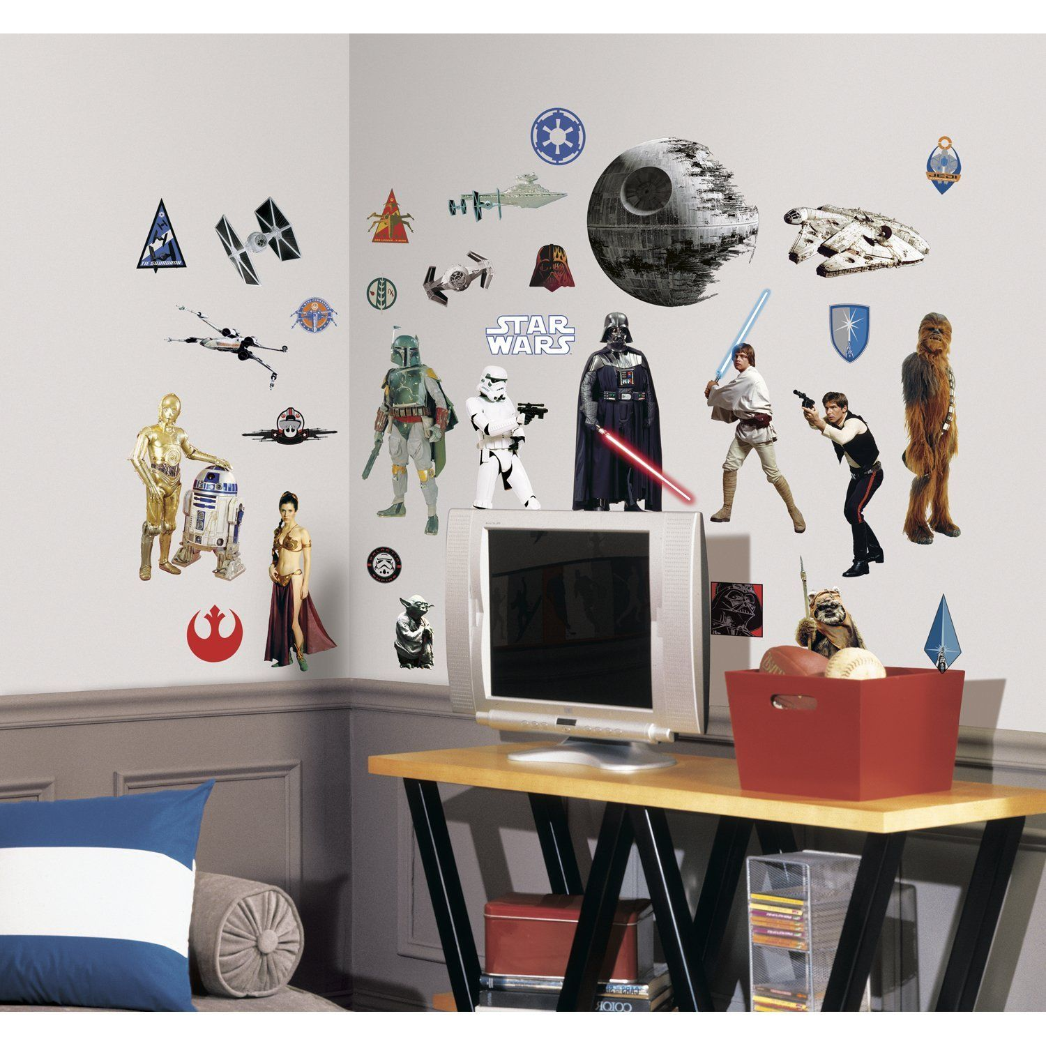 Peel And Stick Wall Decor Roommates Rmk1586scs Star Wars Classic Peel And Stick Wall Decals