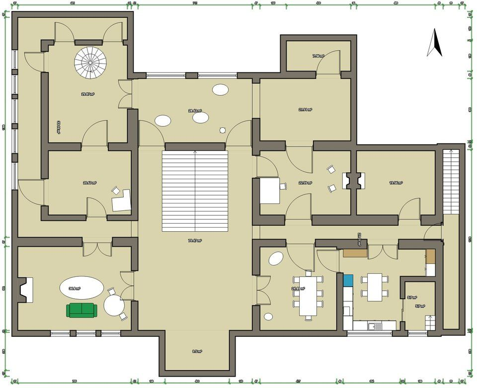Floor Plan Of Hill House  Ground Level   Hauntingofhillhouse