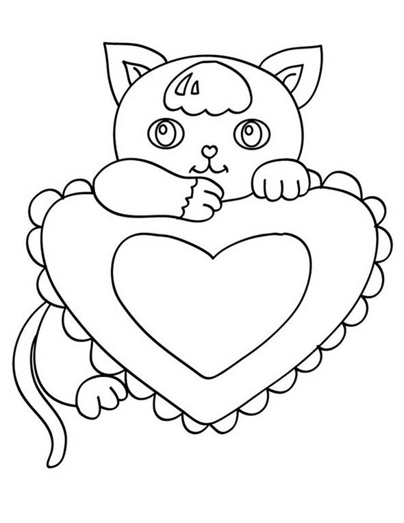 hinter einer Katze Herz | ♥Ausmalbilder ♥ | Pinterest ...