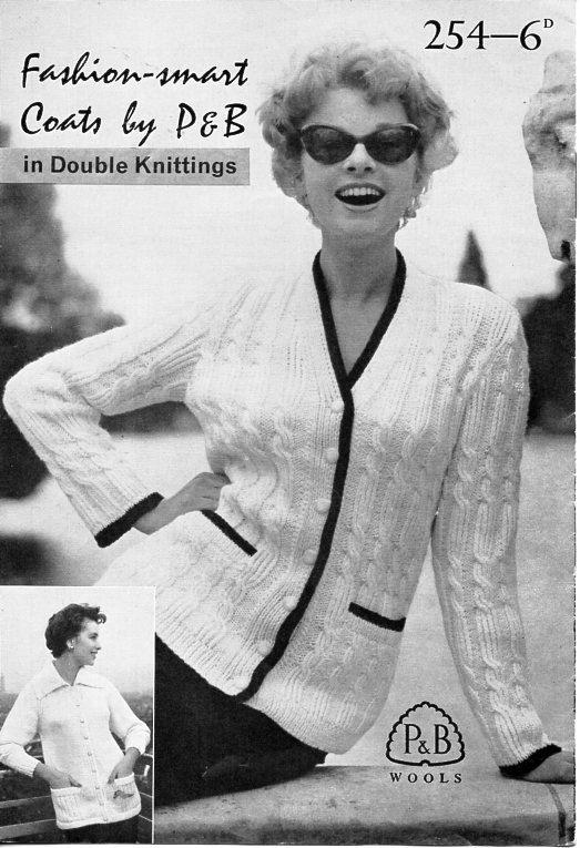 Vintage womens DK jackets knitting pattern PDF ladies cable cardigan ...