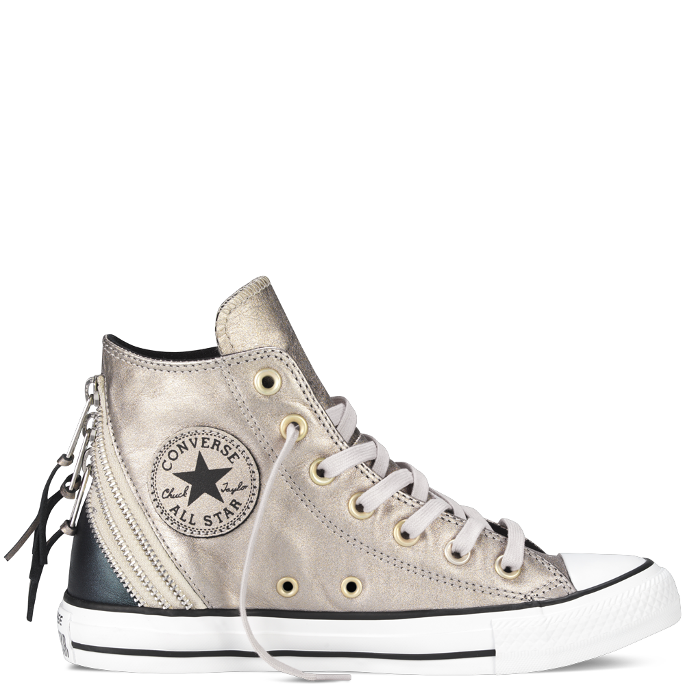 Chuck Taylor All Star Metallic Tri Zip portrait grey