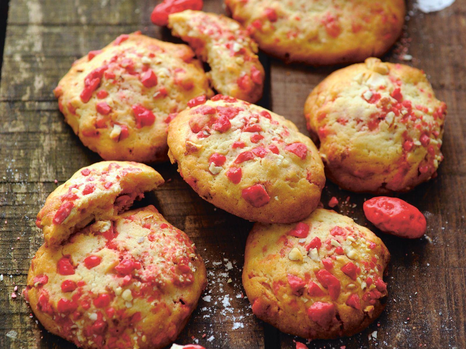 Découvrez la recette des cookies aux pralines roses
