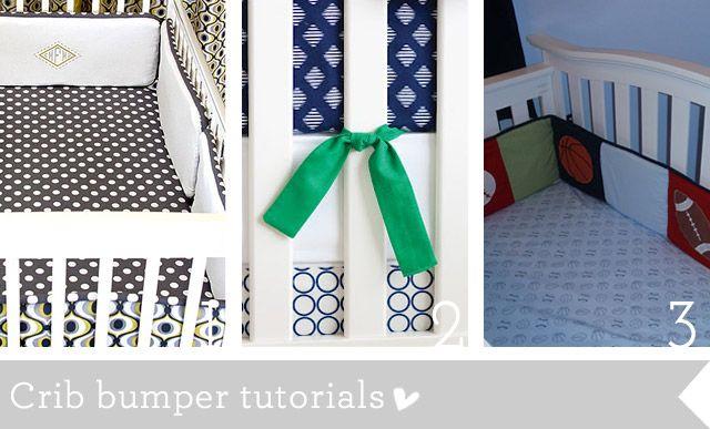 Crib bedding and nursery sewing tutorials roundup | How Joyful ...