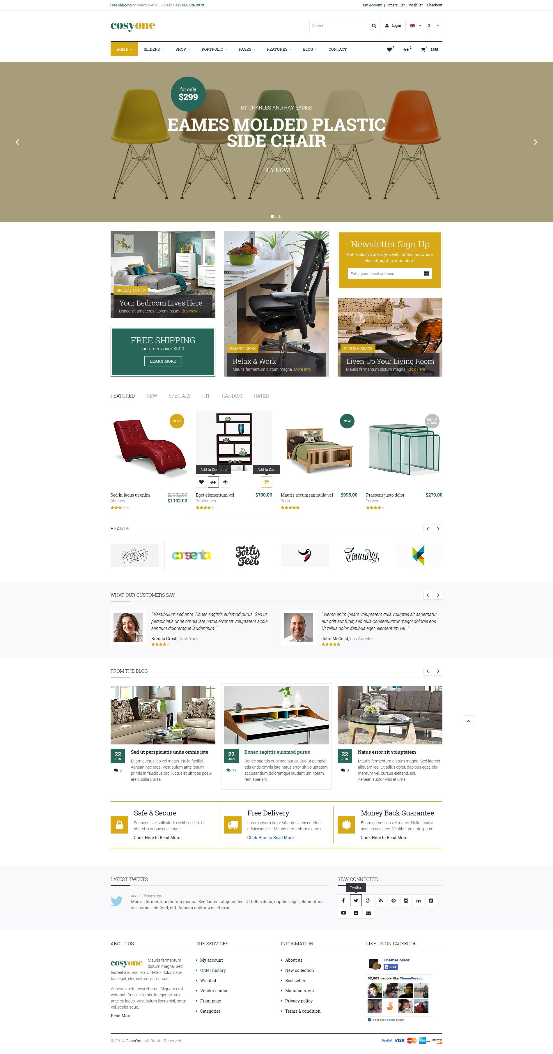 CosyOne - Premium Furniture/Interior PSD Template # ...
