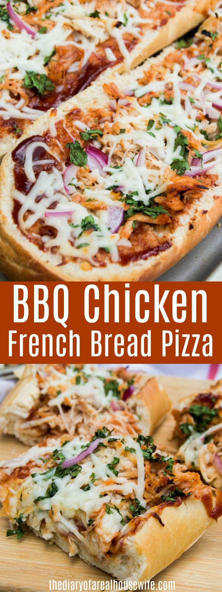 We Love This Simple Dinner Idea Bbq Chicken French Bread Pizza Make The Perfect Pizza Night With The Family Pizz French Bread Pizza Dinner Bread Pizza Bread