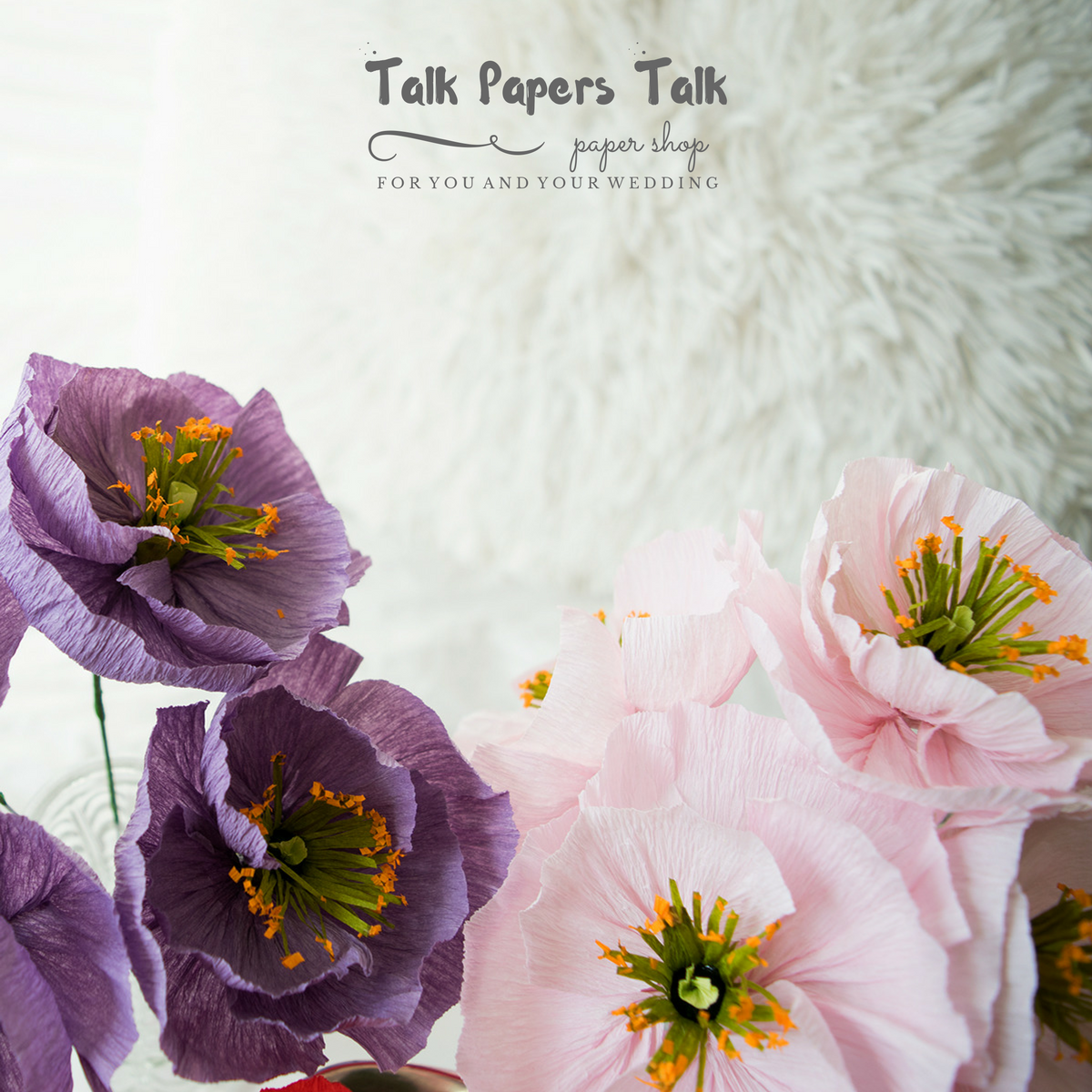 Wedding decorations using crepe paper   Icelandic poppies mix colors paperflowers crepepaperflowers