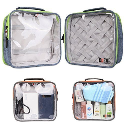a0556418e0a5 BUBM Clear Travel Gear Organizer / Electronics Accessories Bag ...