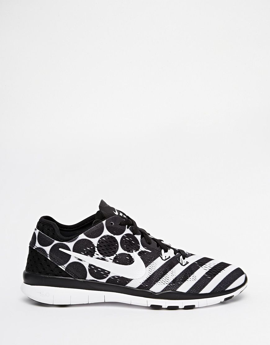nike free 5.0 black and white printer