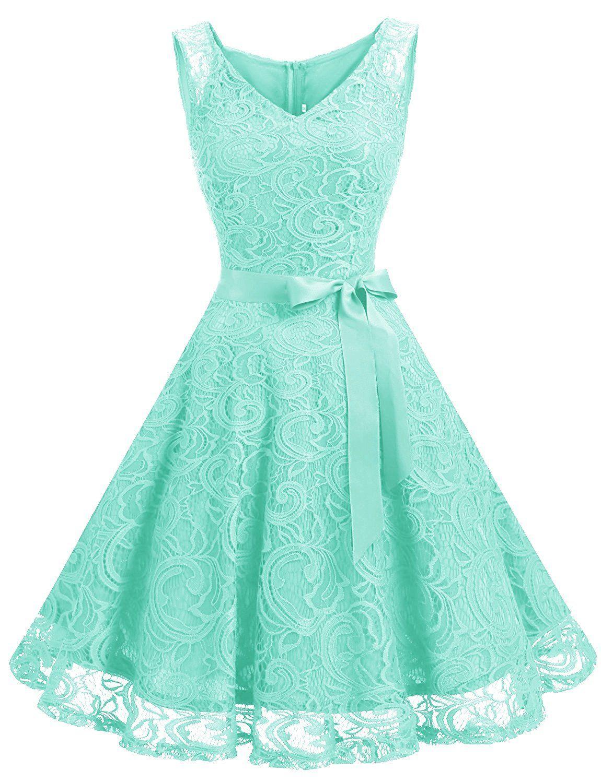 Dressystar DS12 Brautjungfernkleid Ohne Arm Kleid Aus Spitzen