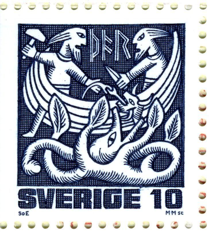 Swedish stamp depicting everyone 39 s favorite story for Fish symboled stamp