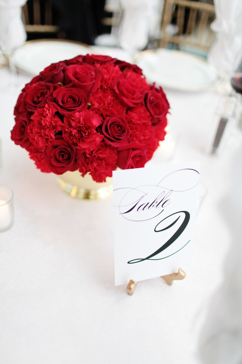 Bella Fiori - red wedding (gold container?) | Beano\'s Cabin ...