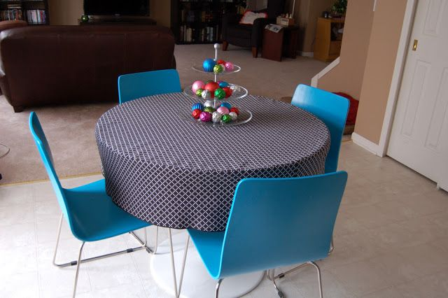 Round Tablecloth Tutorial Diy Tablecloth Table Cloth