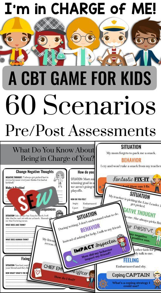 CBT Game for School Counseling and Social Emotional ...