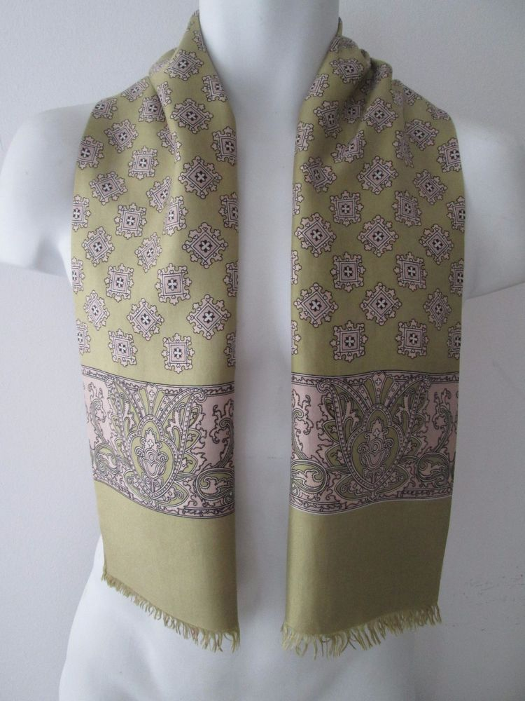 vintage mens 60s mod silk geometric paisley hipster scarf mod dandy