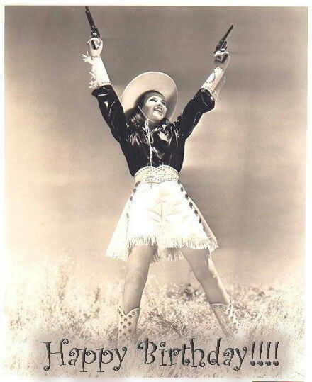 Vintage Cowgirl Birthday Wish Birthday Greetings 2 Share