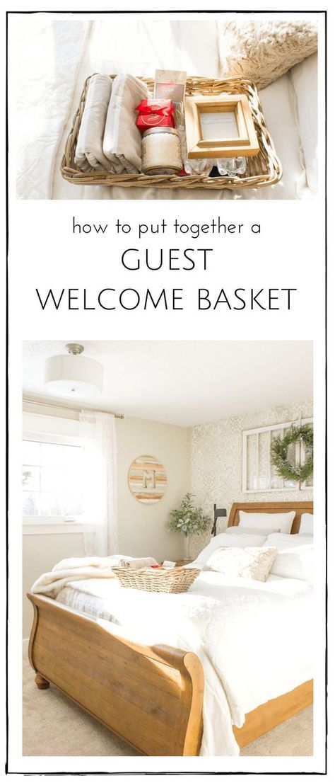 How to Put Together a Guest Welcome Basket is part of Welcome home Basket - This simple guest welcome basket is such a perfect way to welcome guests to our home!