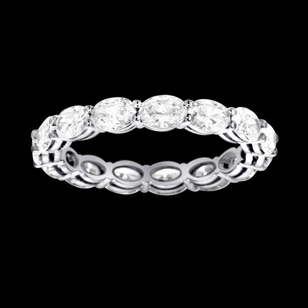 eternity band oval diamonds - Google Search | Earrings, Necklaces ...