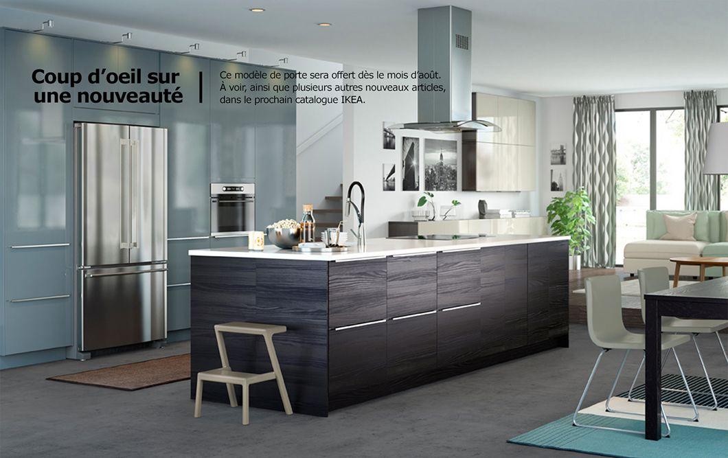 Portes d armoire et fa ades de tiroir gris turquoise et d - Taille moyenne cuisine ...
