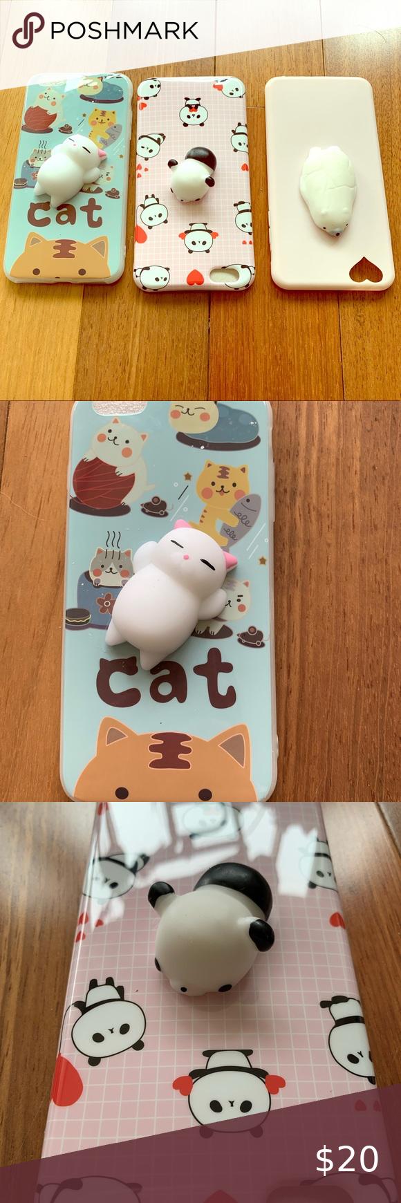Iphone 6 Plus Cute Squishy Animal Case Set Of 3 In 2020 Iphone 6 Plus Iphone Iphone 6