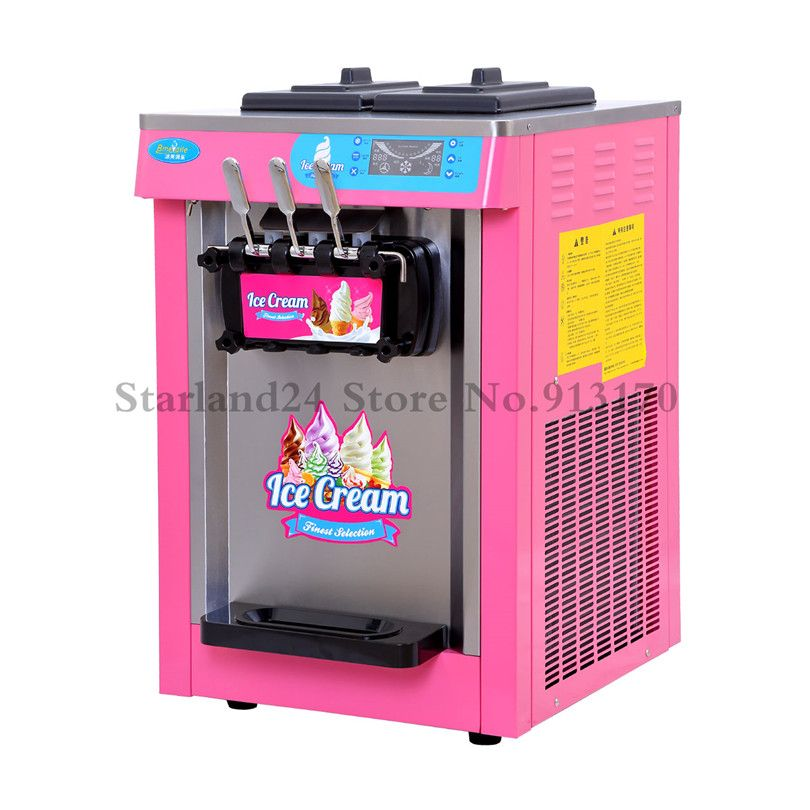 Countertop Soft Serve Ice Cream Machine Frozen Yogurt Ice Cream
