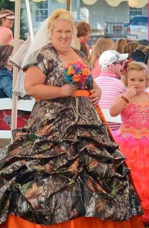 Honey Boo Boo S Mom Worst Wedding Dress Camo Wedding Dress Funny Dresses